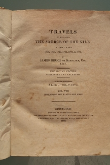 The source of the Nile in the years 1768, 1769, 1770, 1771, 1772 & 1773